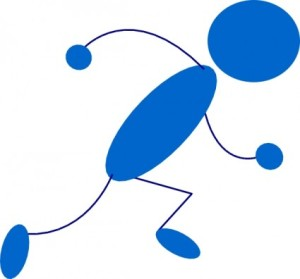 running_blue_stick_man_clip_art_22421
