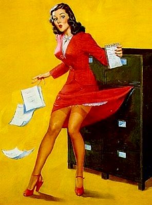 VintagePostcards-OfficeGirl